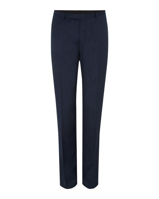 Howick | Blue Darby Birdseye Slim Fit Trouser for Men | Lyst