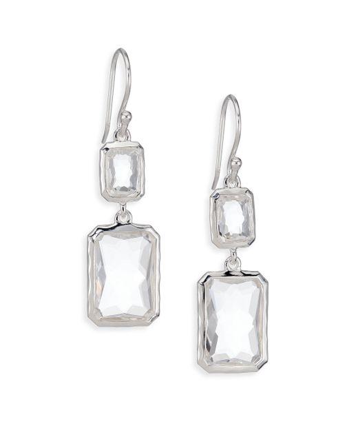 Ippolita | Metallic Rock Candy Clear Quartz & Sterling Silver Snowman Rectangle Drop Earrings | Lyst