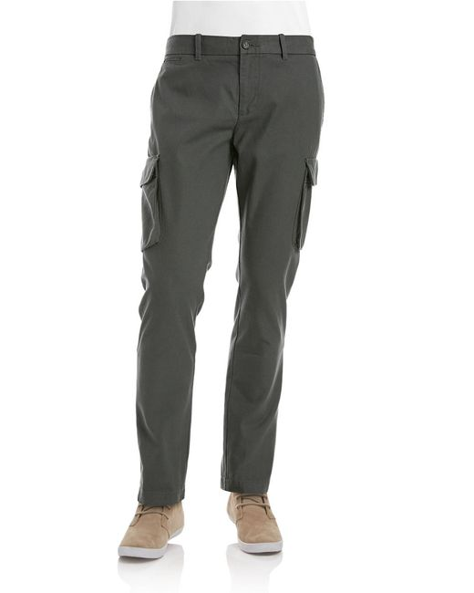 Original Penguin | Gray Slim-fit Clean Cargo Pants for Men | Lyst