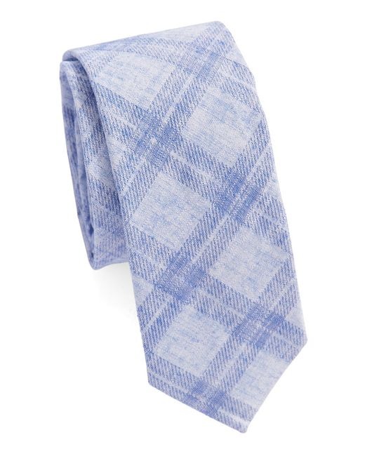 Original Penguin | Blue Plaid Tie for Men | Lyst