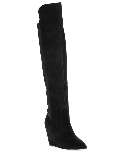 Charles by Charles David | Black Reed Suede Boot | Lyst