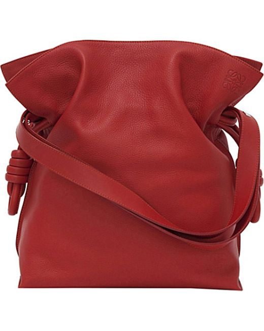 Loewe | Red Large Flamenco Knot Leather Shoulder Bag | Lyst