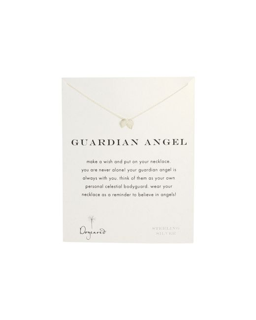 Dogeared | Metallic Guardian Angel Reminder Necklace | Lyst