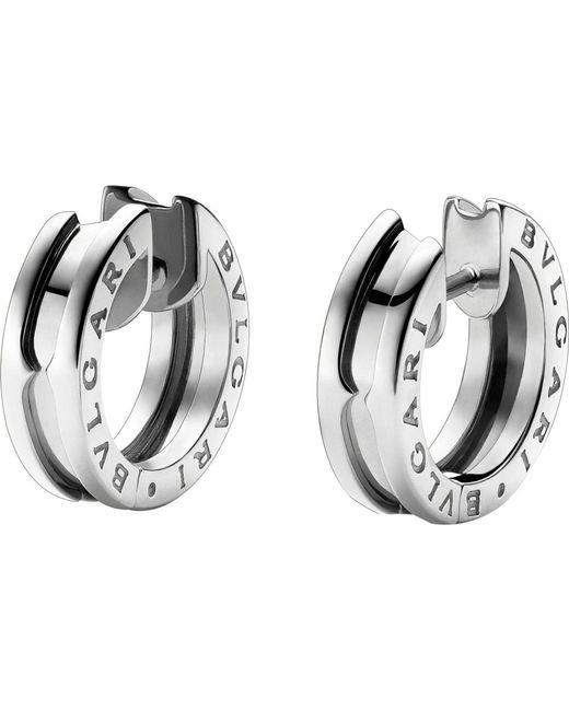 BVLGARI   Metallic B.zero1 18kt White-gold Earrings   Lyst