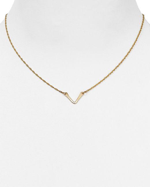 "Phyllis + Rosie   Yellow Phyllis + Rosie V Pendant Necklace, 16""   Lyst"