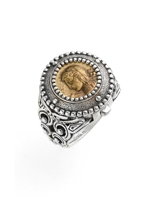 Konstantino | Metallic 'arethusa' Hinged Coin Ring | Lyst
