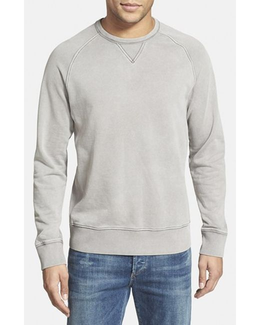 Jeremiah | Gray 'armstrong' Sunwashed French Terry Sweatshirt for Men | Lyst