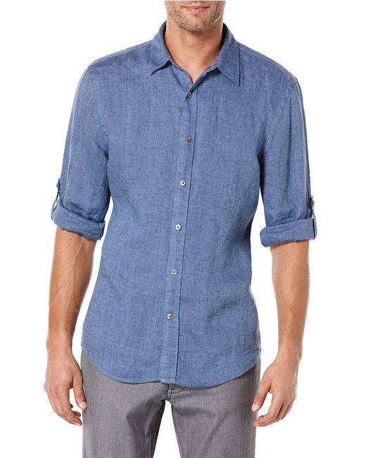 Perry Ellis | Blue Linen Sportshirt for Men | Lyst