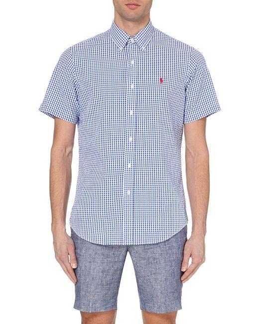Ralph Lauren | Blue Gingham-print Regular Shirt for Men | Lyst