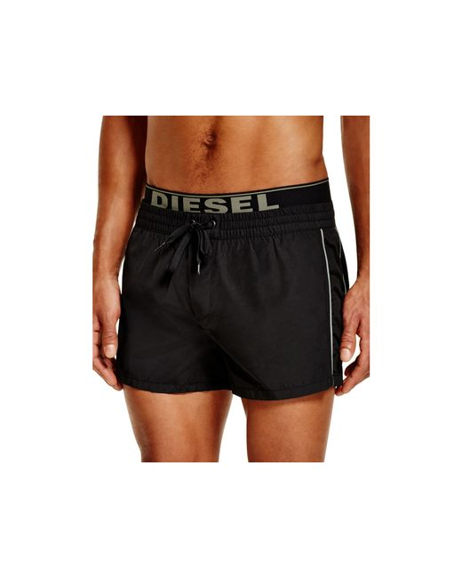 Diesel Bmbx Seaside Logo Swim Trunks in Black for Men