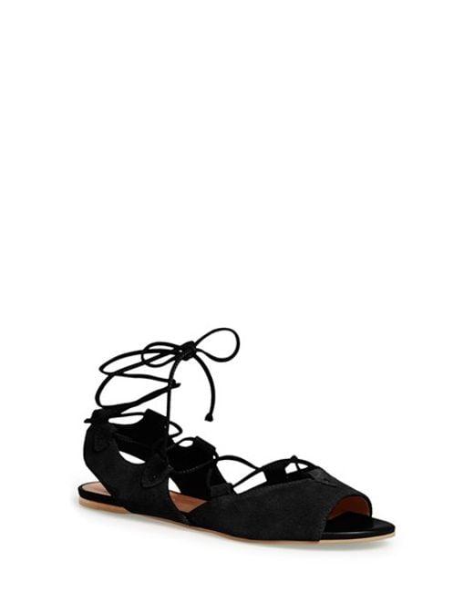 Bernardo | Black Bernardo 'olivia' Lace-up Sandal | Lyst