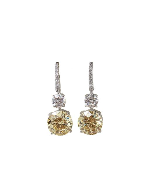 Fantasia Jewelry | Metallic Pave Top Earrings | Lyst