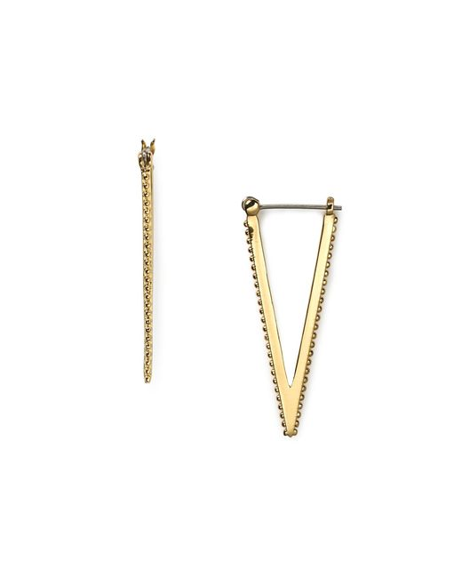 Rebecca Minkoff | Metallic V Hoop Earrings | Lyst