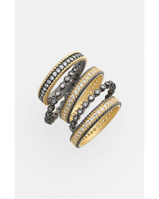 Freida Rothman | Metallic 'the Standards' Stackable Rings (set Of 5) | Lyst