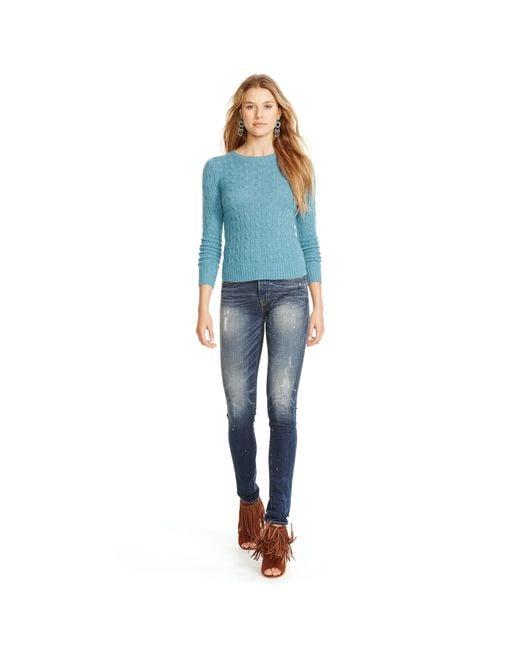 Polo Ralph Lauren | Blue Cable-knit Cashmere Sweater | Lyst