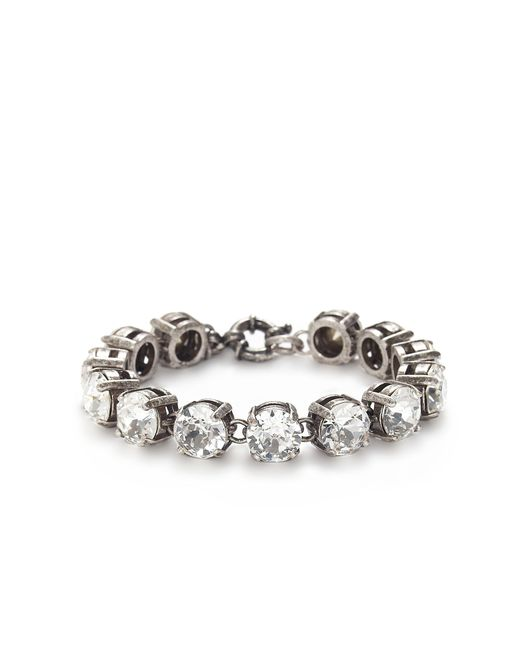 J.Crew | Metallic Swarovski Crystal Bracelet | Lyst