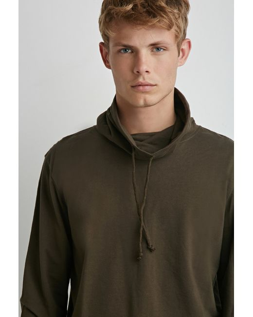 Forever 21 | Green Drawstring Funnel Neck Hoodie for Men | Lyst