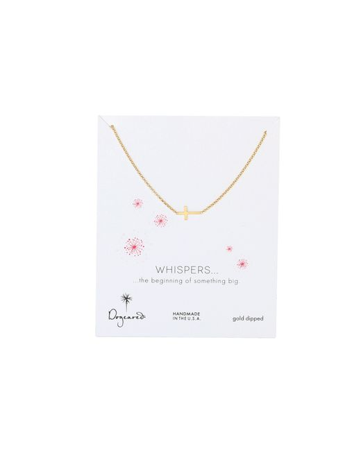 "Dogeared | Metallic 16"" Whispers Cross Necklace 