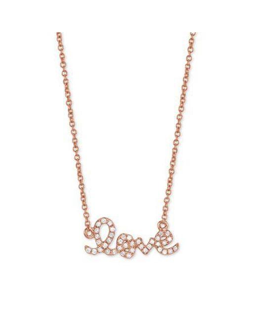 Sydney Evan | Pink Diamond & 14k Rose Gold Small Love Necklace | Lyst