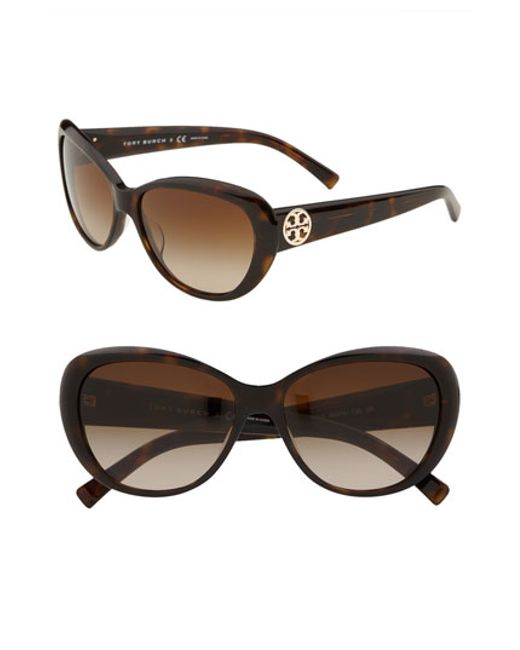 Tory Burch | Brown 56mm Cat Eye Sunglasses | Lyst