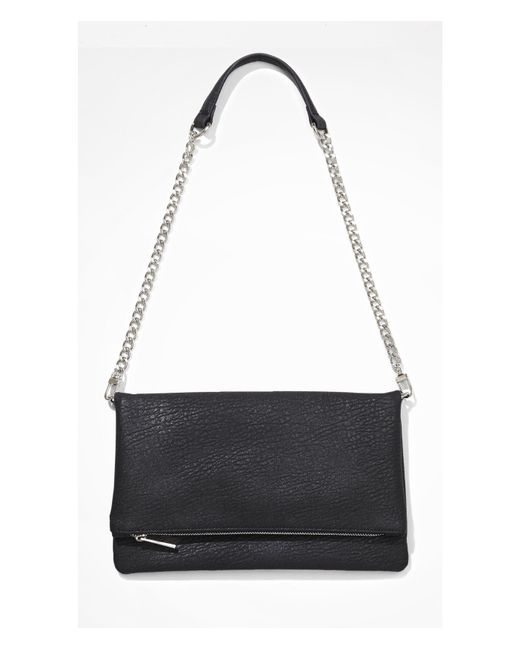 Express | Black Fold-over Convertible Clutch | Lyst