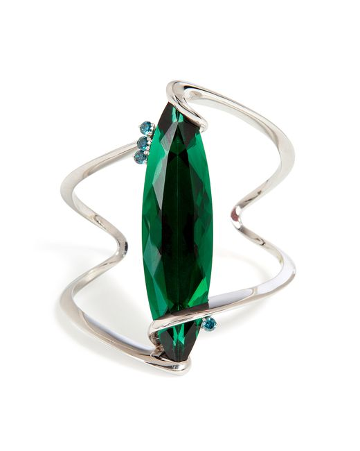 Delfina Delettrez | Green , Stone Edge Bracelet | Lyst