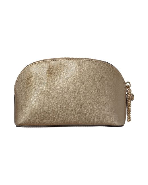 Michael kors Alex Gold Cosmetic Bag in Gold : Lyst