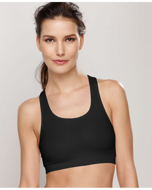 Wacoal | Black Seamless Wireless Sports Bra 852243 | Lyst