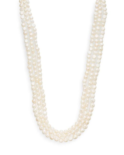 Saks Fifth Avenue | 8-9mm White Baroque Cultured Pearl Strand Necklace/100"