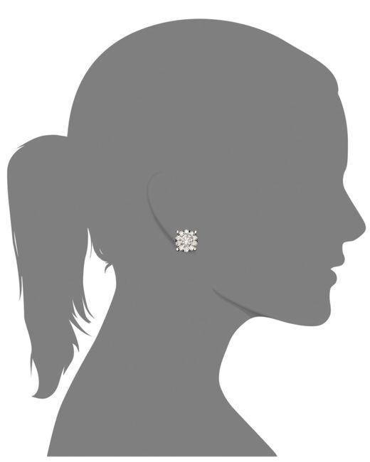 Macy's   Diamond Snowflake Earrings In 14K White Gold (1/4 Ct. T.W.)   Lyst