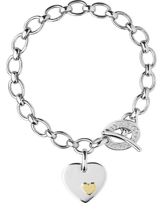 Links of London | Metallic Heart Sterling Silver Charm Bracelet | Lyst