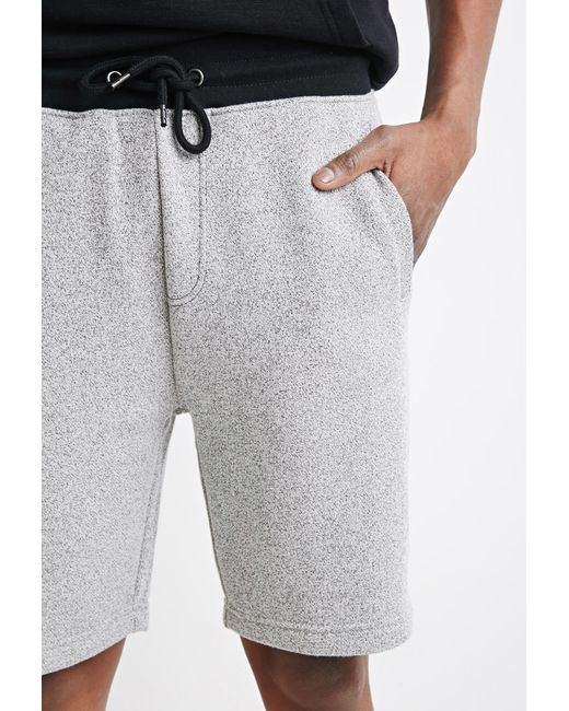 Forever 21 | Gray Marled Drawstring Sweatshorts for Men | Lyst
