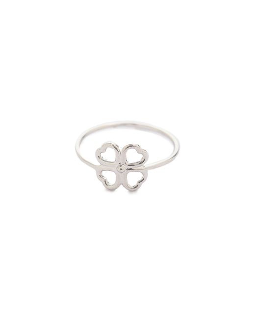 Aurelie Bidermann | Metallic Mini Clover Ring | Lyst