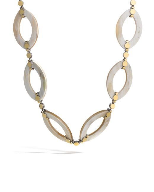 John Hardy | Metallic Link Necklace With Horn | Lyst