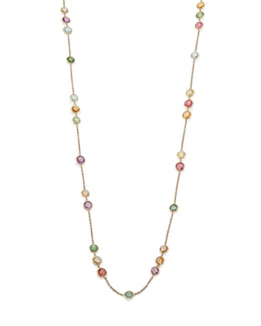 Marco Bicego | Metallic Jaipur Semi-precious Multi-stone & 18k Yellow Gold Long Station Necklace | Lyst
