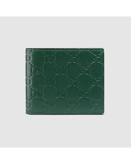 Mens gucci wallet green