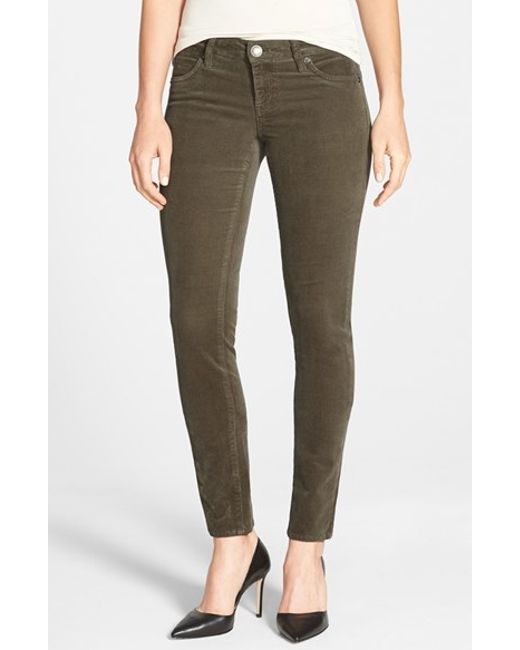 Kut From The Kloth | Natural Diana Stretch Corduroy Skinny Pants | Lyst