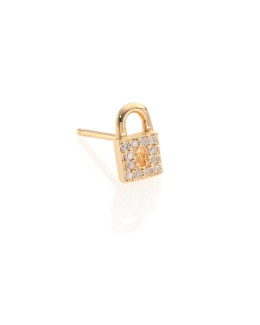 Sydney Evan | Metallic Diamond & 14k Yellow Gold Lock Single Stud Earring | Lyst
