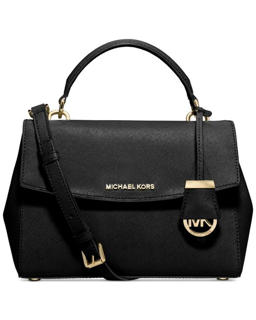 Michael Kors | Black Michael Ava Small Top Handle Satchel | Lyst