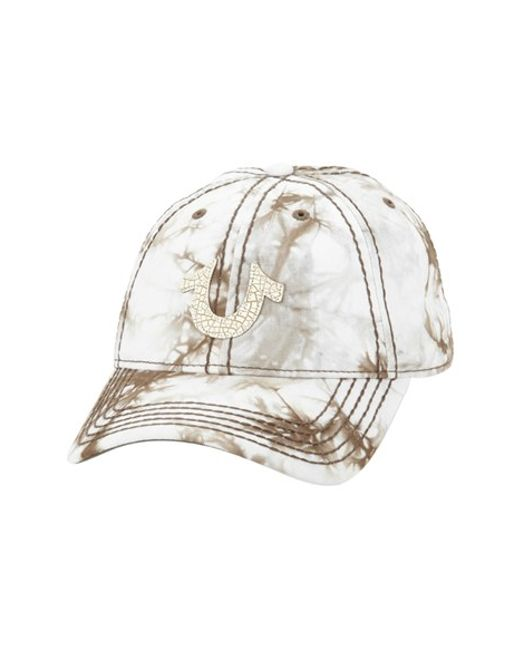 True Religion | Natural Marble Dye Baseball Cap for Men | Lyst