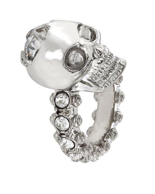 Alexander McQueen | Metallic Jewelled Skull Ring | Lyst