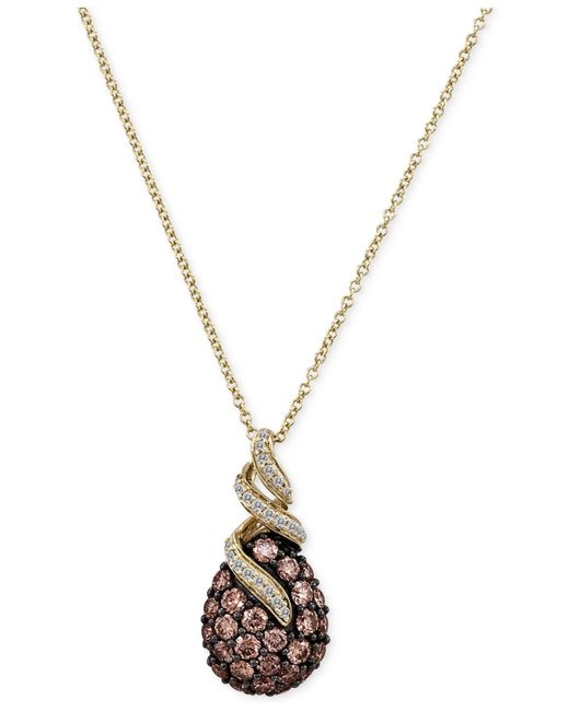 Le Vian | Pink Chocolatier® Chocolate Diamonds® Pendant Necklace (1-1/8 Ct. T.w.) In 14k Gold | Lyst