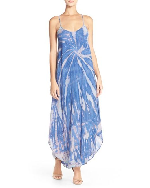 Fraiche By J | Blue Tie-Dye A-Line Maxi Dress | Lyst