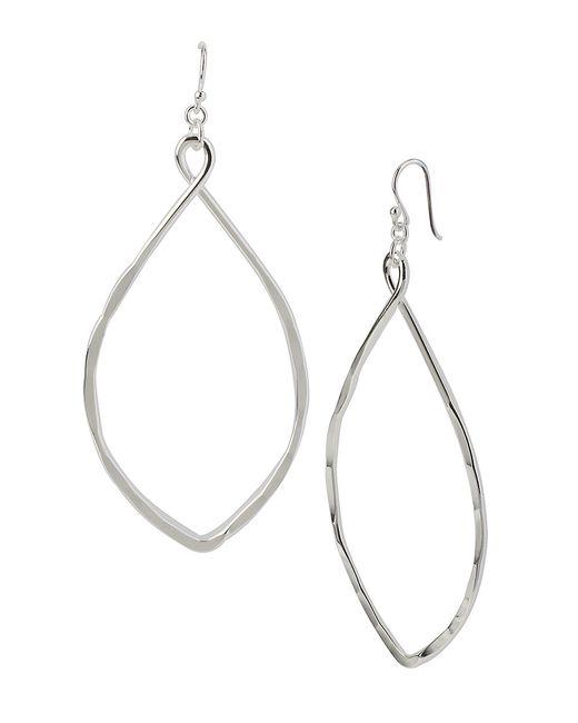 Robert Lee Morris | Metallic Silvertone Oval Drop Earrings | Lyst