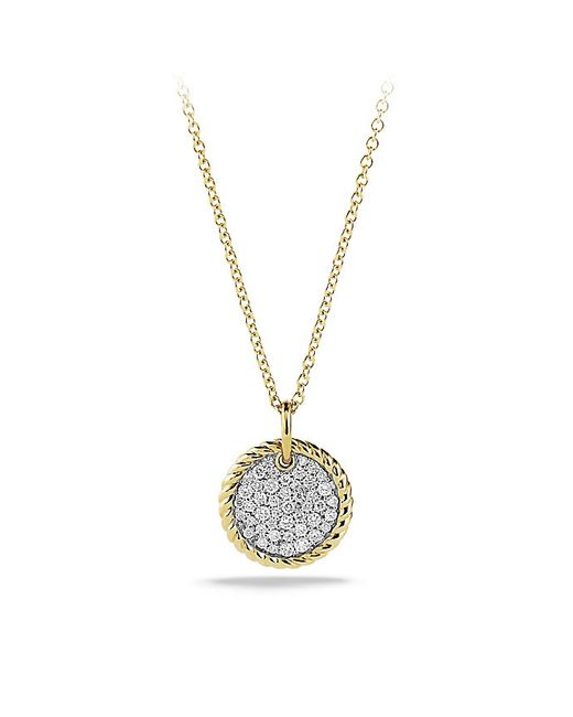 David Yurman | Metallic Cable Collectibles Pavé Charm With Diamonds In Gold | Lyst