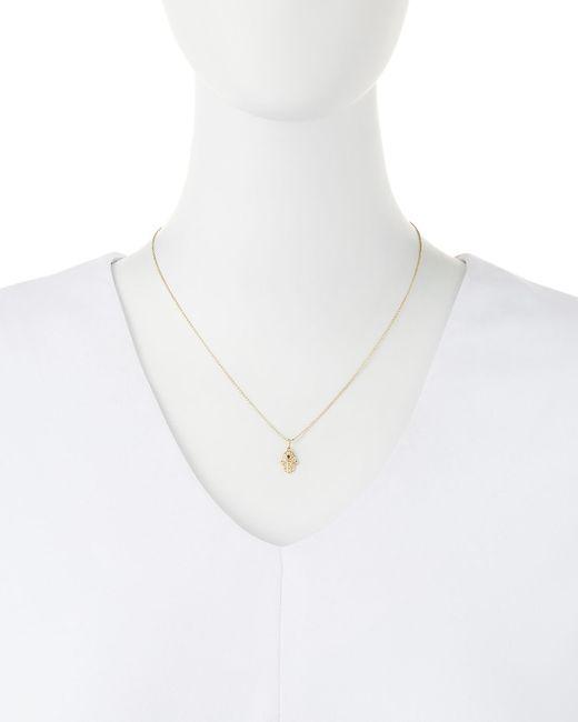Sydney Evan   Metallic 14K Gold Diamond Hamsa Pendant Necklace   Lyst