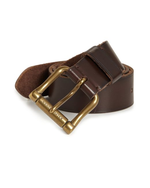pink pony chunky roller buckle belt in brown lyst