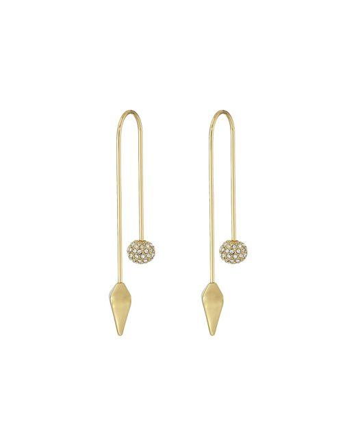 Rebecca Minkoff | Metallic Cube/ball Threader Earrings | Lyst