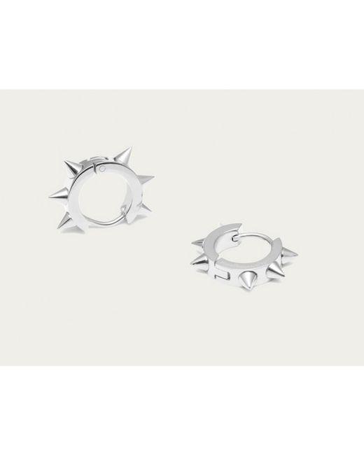 Maria Francesca Pepe | Metallic Silver Spiked Hoops | Lyst