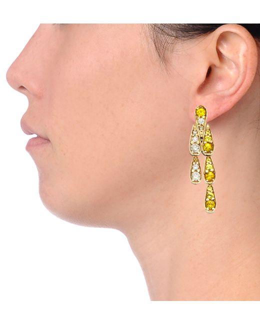 Sabine G | Harlequin Yellow Sapphire Earrings | Lyst